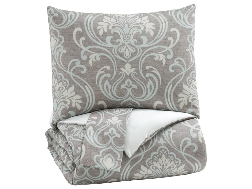 Signature Design by Ashley Bedding SetsQueen Noel Gray/Tan Comforter Set