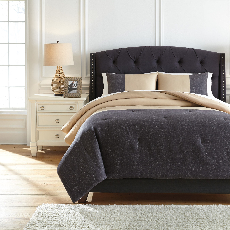 Threshold 3 Piece Comforter Set Gray King Bedding Set with Shams NEW