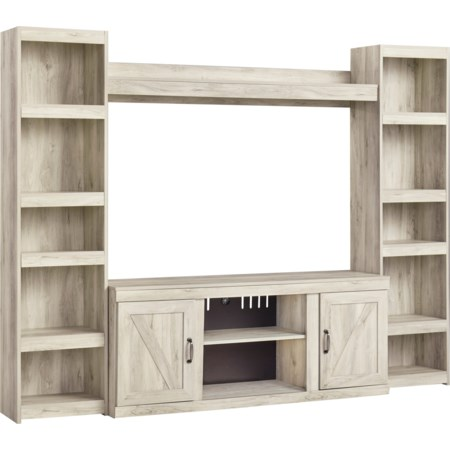 TV Stand with 2 Piers and Bridge