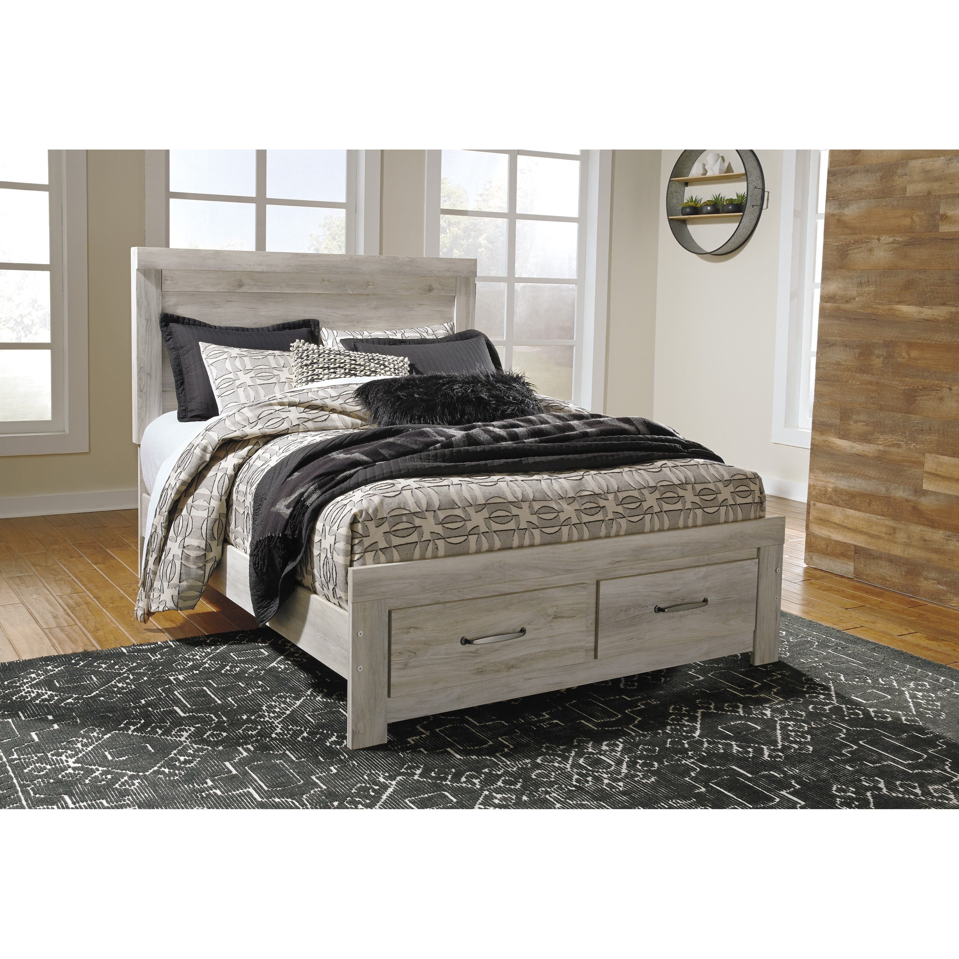 Signature Design By Ashley Bellaby Queen Panel Bed With Storage Footboard Wayside Furniture Panel Beds