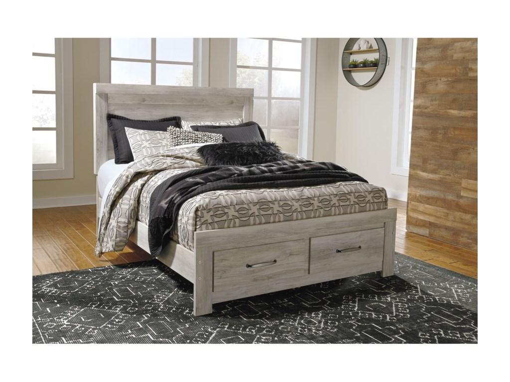 Signature Design by Ashley BellabyQueen Panel Bed with Storage Footboard