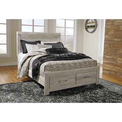 Signature Design by Ashley Bellaby Queen Panel Bed with Storage Footboard