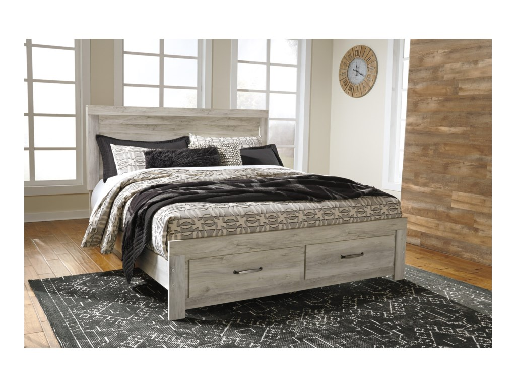 Signature Design by Ashley BellabyKing Panel Bed with Storage Footboard