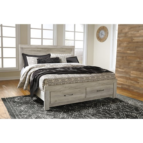 Signature Design by Ashley Bellaby King Panel Bed with Storage Footboard