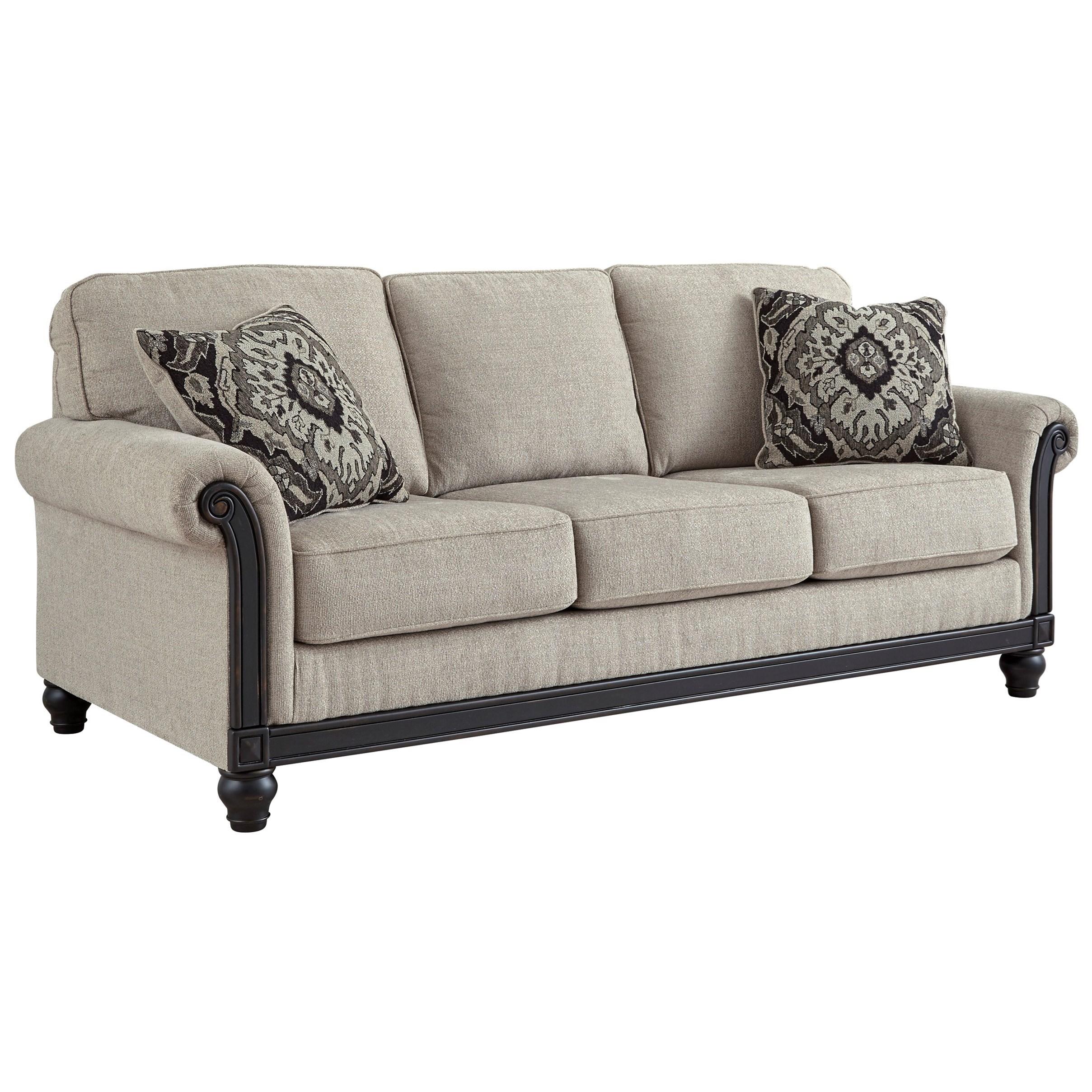 Traditional Sofa with Turned Bun Feet