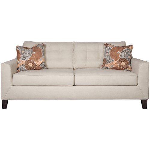 Signature Design by Ashley Benissa Contemporary Sofa with Button Tufting
