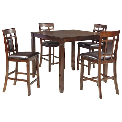 Signature Design By Ashley Bennox Contemporary 5 Piece Dining Room Counter Table Set