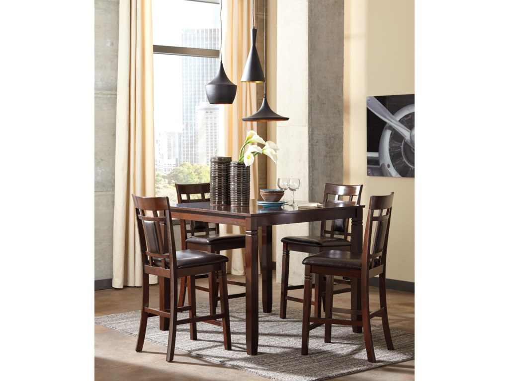 Bennox Contemporary 5 Piece Dining Room Counter Table Set By Signature Design By Ashley At Becker Furniture World
