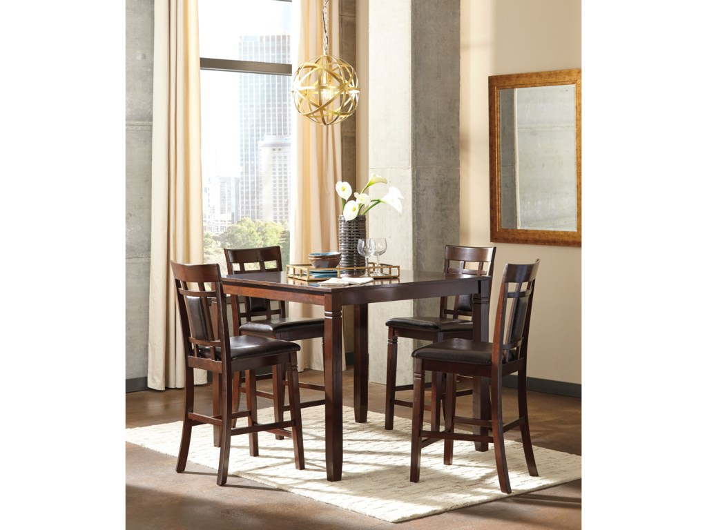 Ashley (Signature Design) Bennox5-Piece Dining Room Counter Table Set