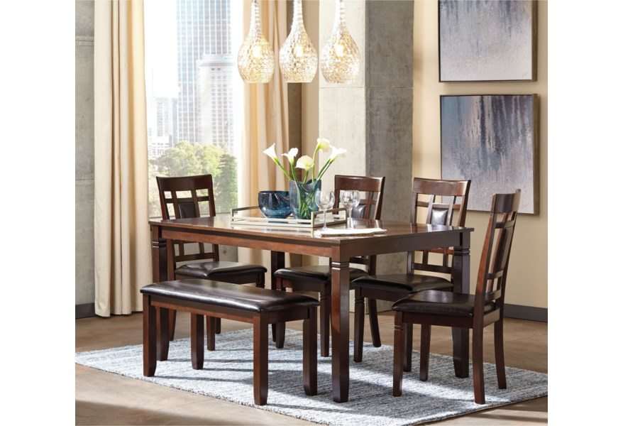 Bennox 6-Piece Dining Room Table Set