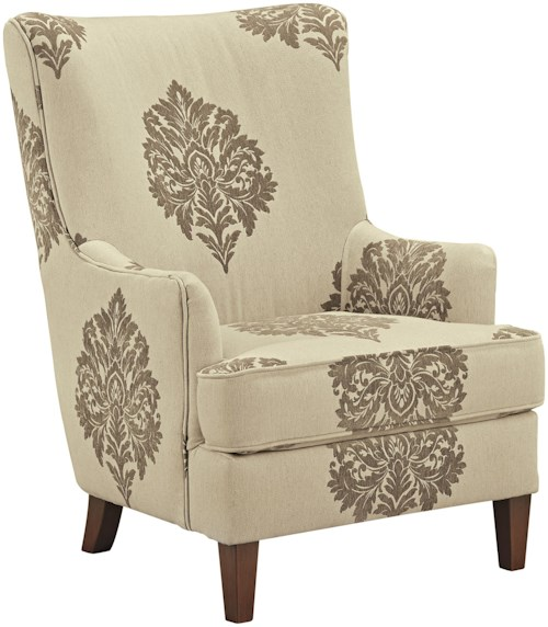 Signature Design by Ashley Berwyn View Accents Transtional Accent Chair with Wing Back