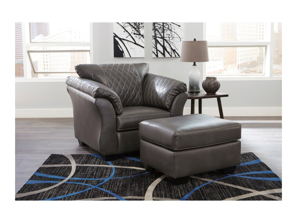 Ashley (Signature Design) BetrilloChair and Ottoman Set