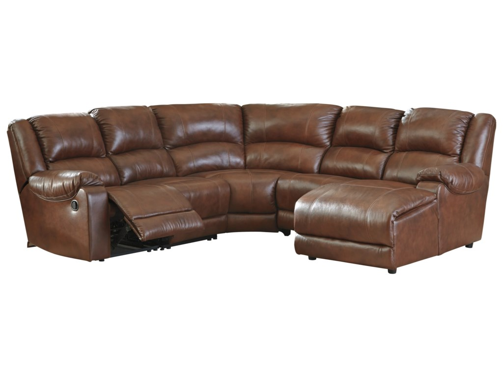 Ashley (Signature Design) BillwedgeReclining Sectional with Chaise