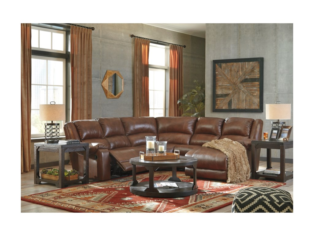 Signature Design by Ashley BillwedgeReclining Sectional with Chaise