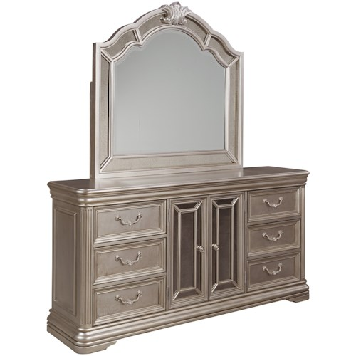 Signature Design by Ashley Birlanny Dresser with Mirror Panels & Bedroom Mirror