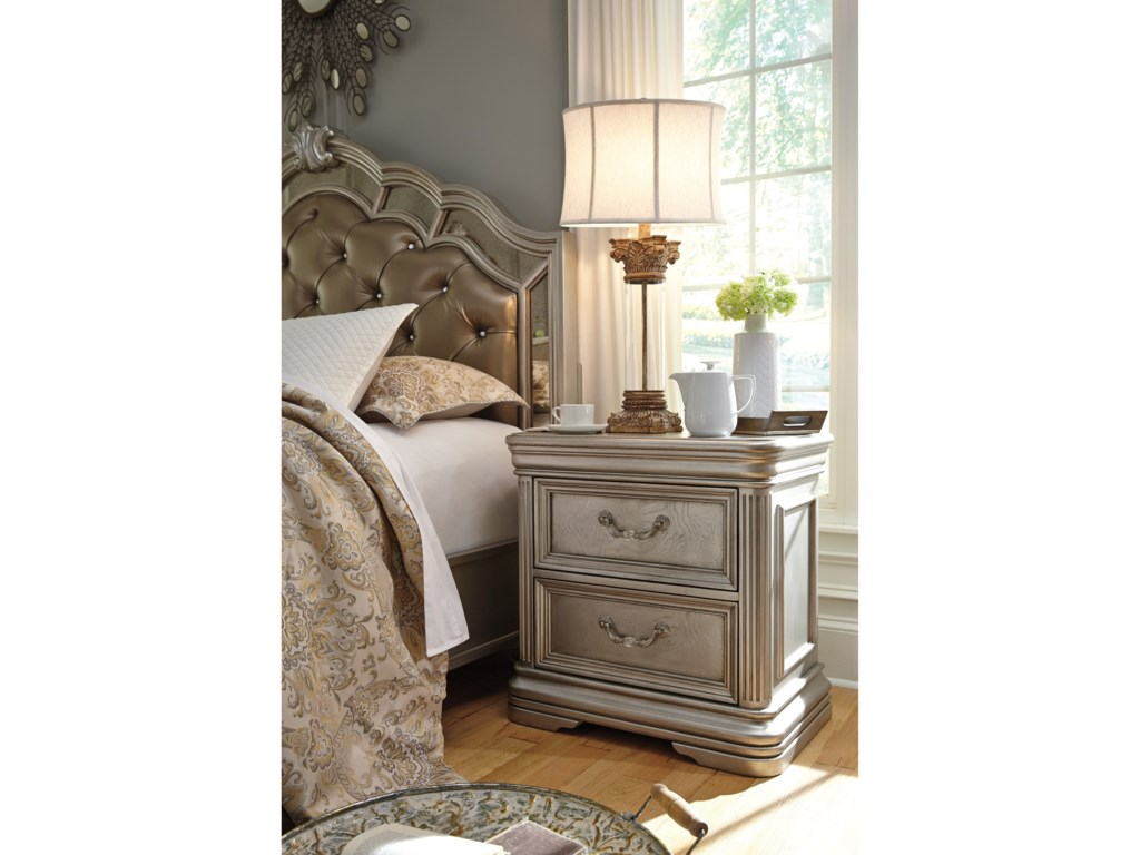 Ashley (Signature Design) BirlannyTwo Drawer Night Stand