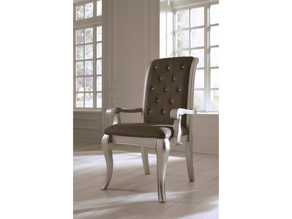 Ashley (Signature Design) BirlannyDining Upholstered Arm Chair