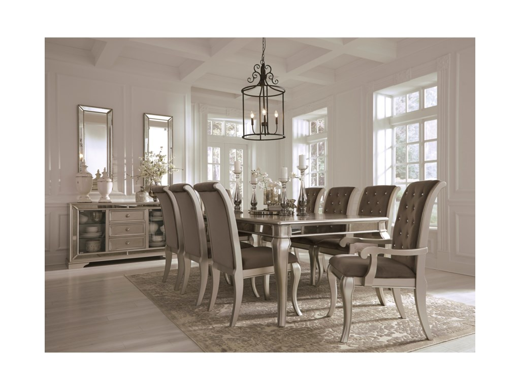 Signature Design by Ashley Birlanny9-Piece Rectangular Dining Table Set