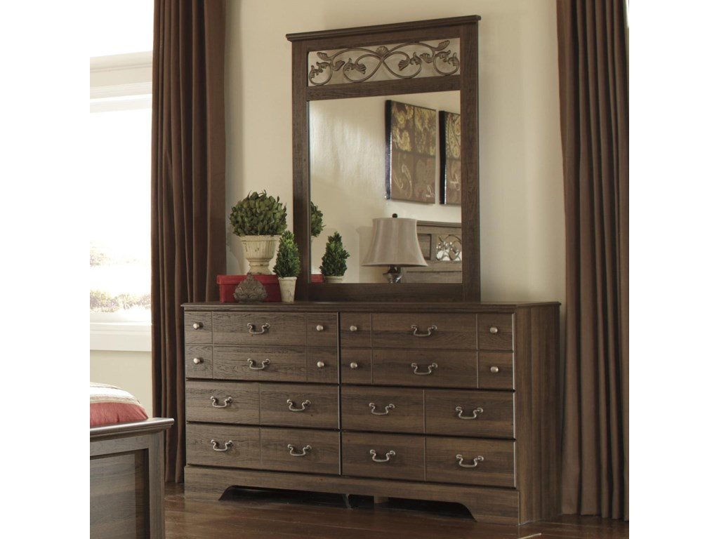 Ashley Signature Design Allymore 6 Drawer Dresser And Mirror Dunk