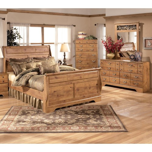 Signature Design by Ashley Bittersweet 4 Piece King Sleigh Bedroom Group