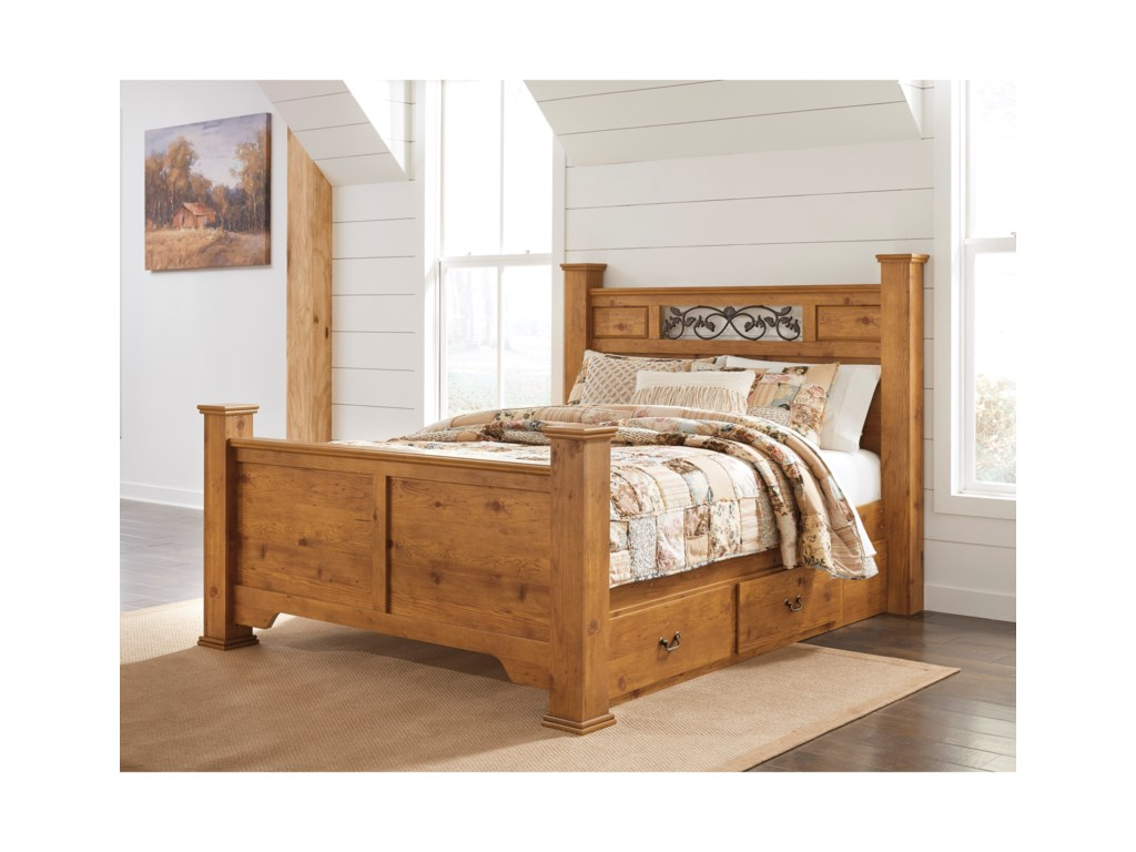 Signature Design by Ashley BittersweetQueen Poster Bed with Storage