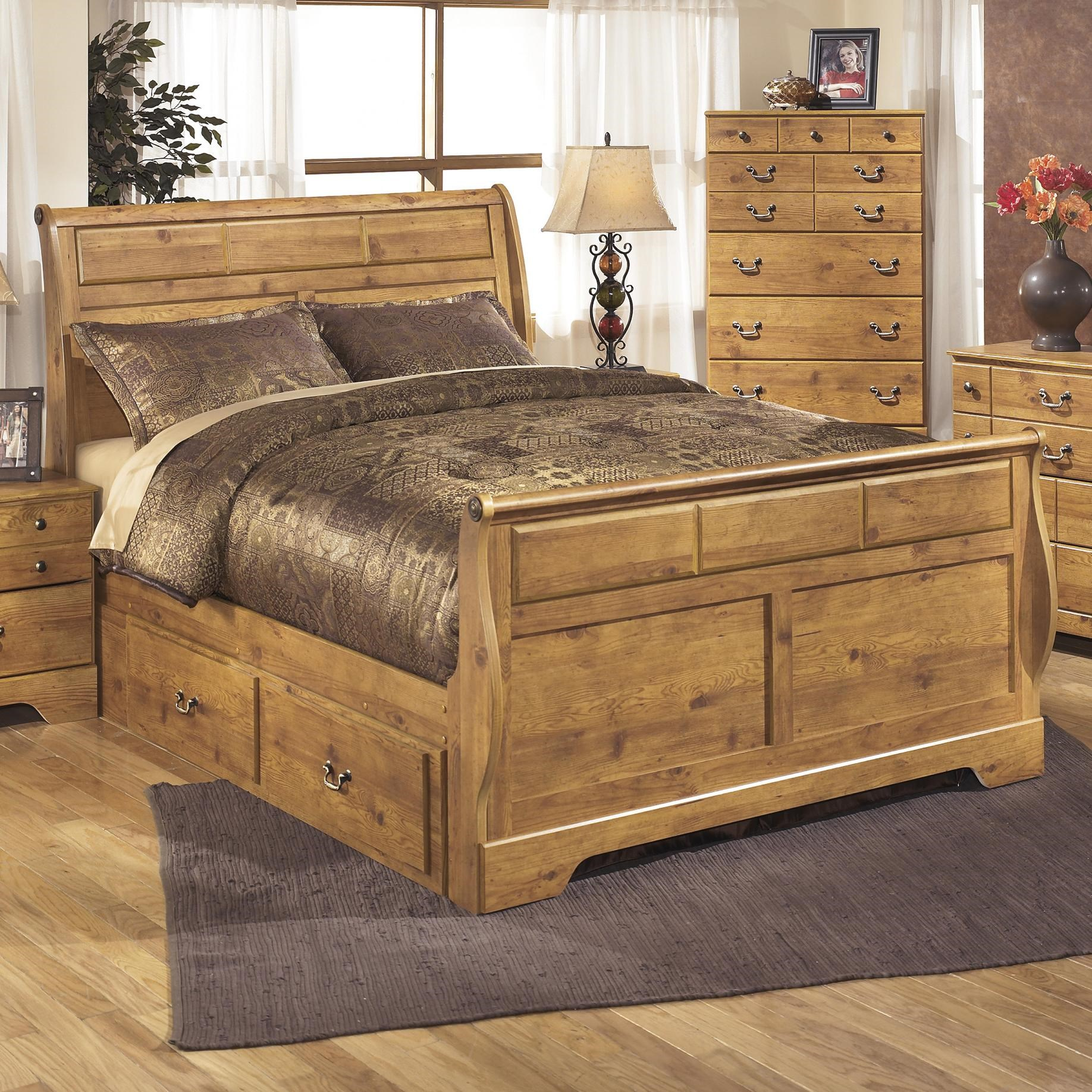 Signature Design by Ashley Bittersweet Queen Sleigh Bed with Under Bed Storage & Signature Design by Ashley Bittersweet Queen Sleigh Bed with Under ...