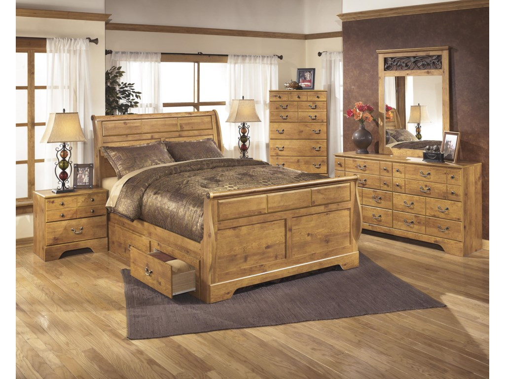 Signature Design by Ashley BittersweetQueen Sleigh Bed with Under Bed Storage