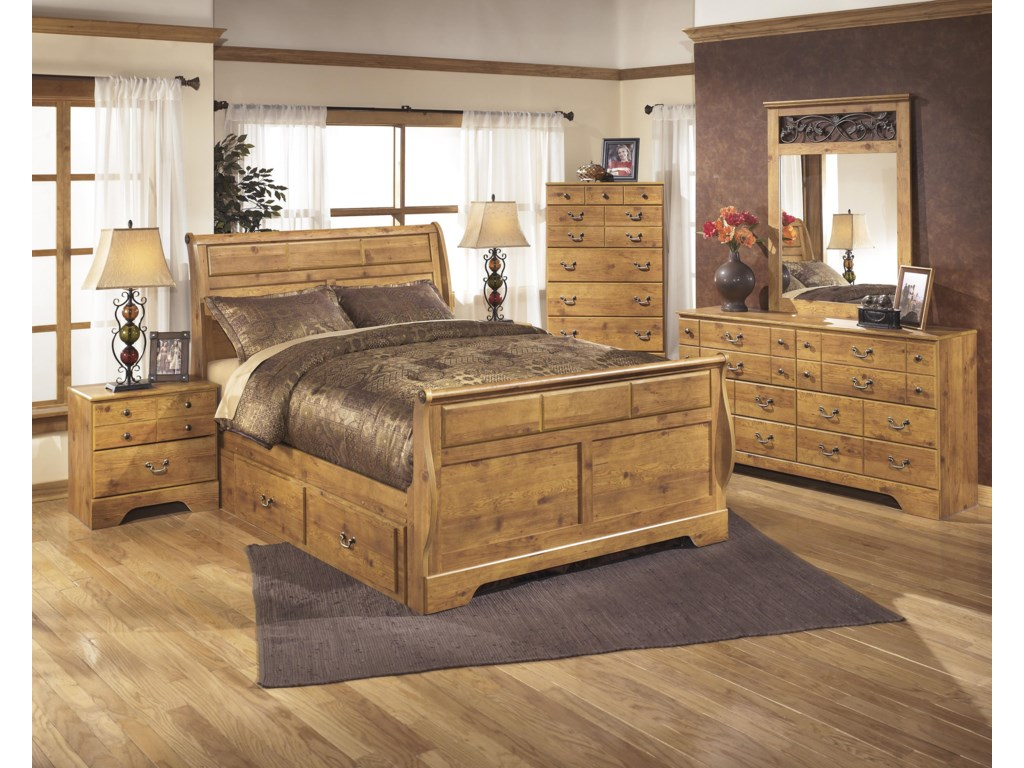 Ashley (Signature Design) BittersweetKing Sleigh Bed with Under Bed Storage