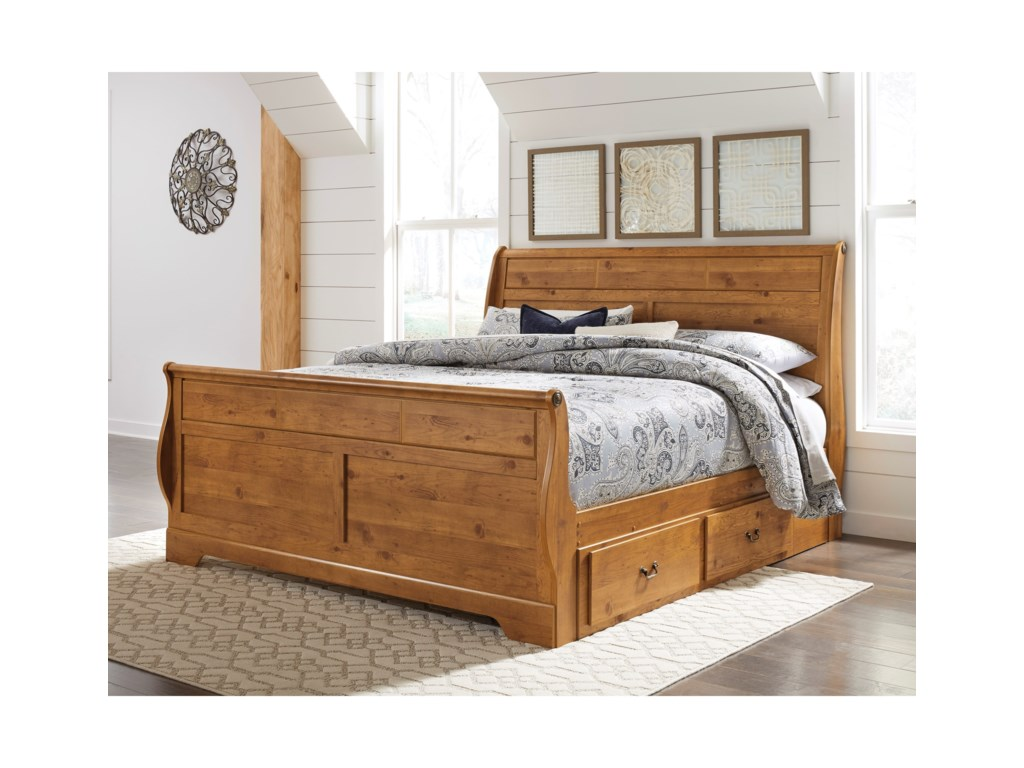 Signature Design by Ashley BittersweetKing Sleigh Bed with Under Bed Storage