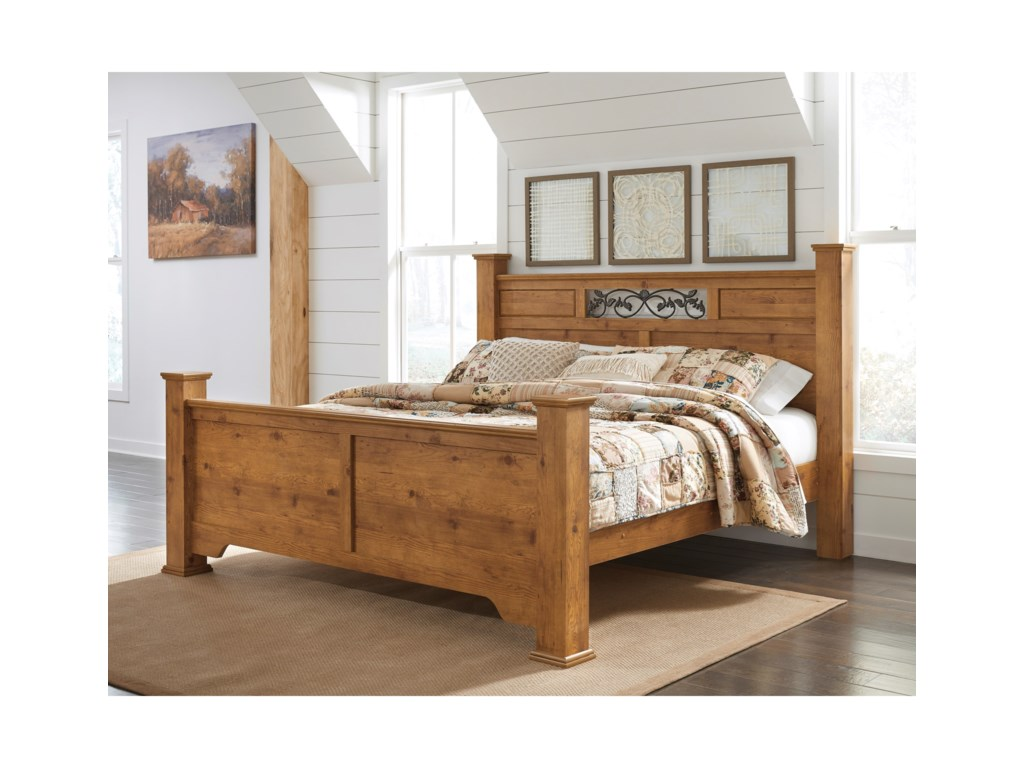 Signature Design by Ashley BittersweetKing Poster Bed