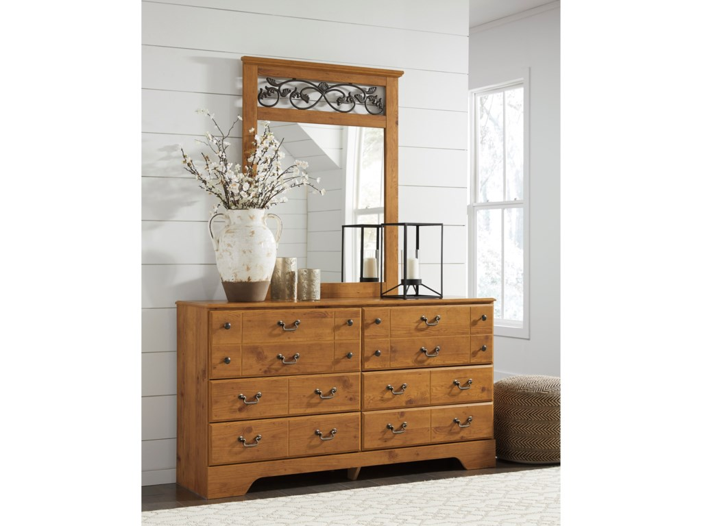 Signature Design by Ashley Bittersweet6 Drawer Dresser and Mirror