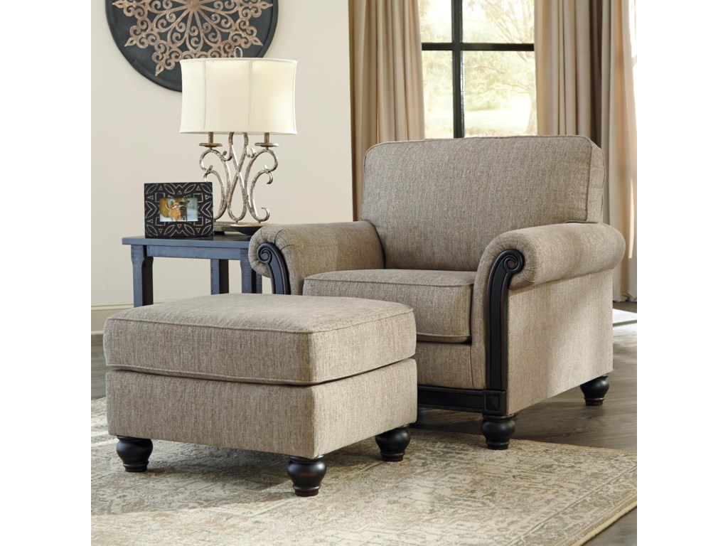 Signature Design by Ashley BlackwoodChair & Ottoman