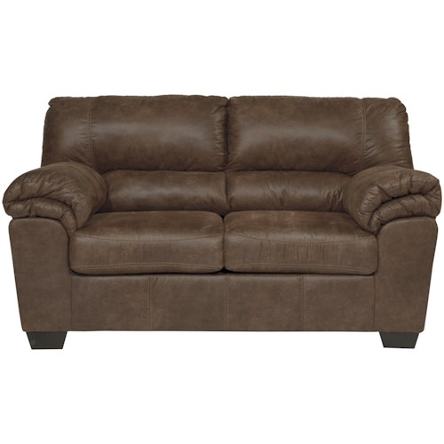 Signature Design by Ashley Bladen Casual Faux Leather Loveseat