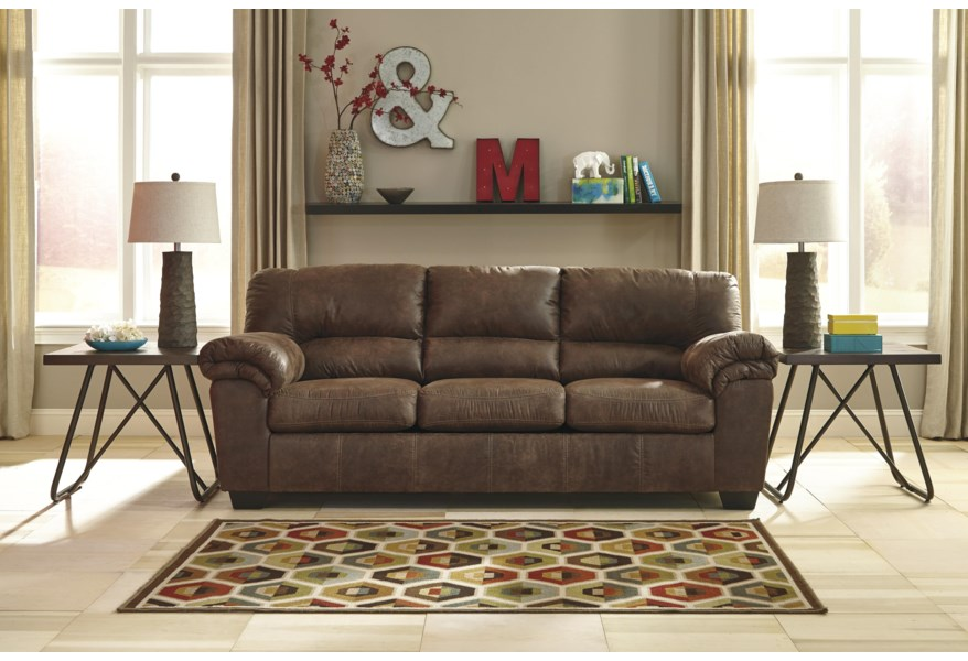 Bladen Casual Faux Leather Full Sofa Sleeper by Benchcraft at Virginia  Furniture Market
