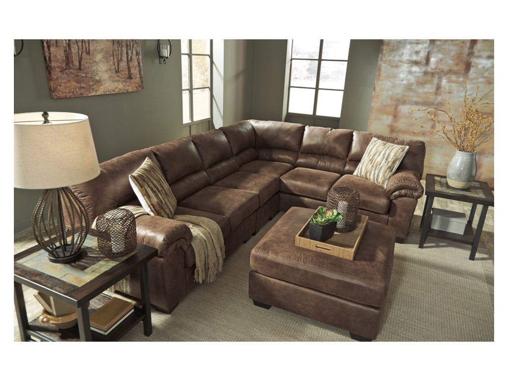 lugoro threshold with width leather chaise item match ashley design products sectional height left piece signature trim by