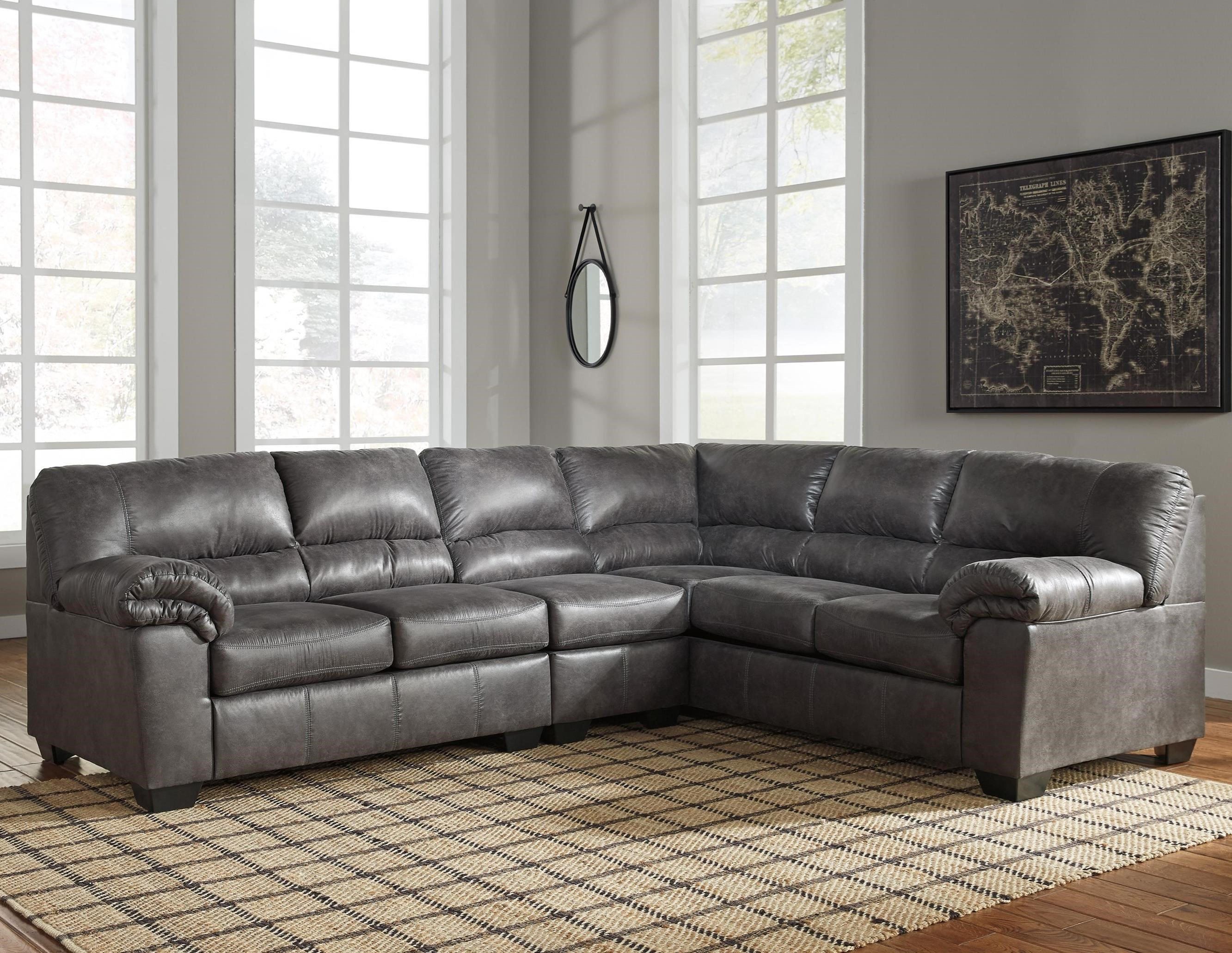 3-Piece Faux Leather Sectional