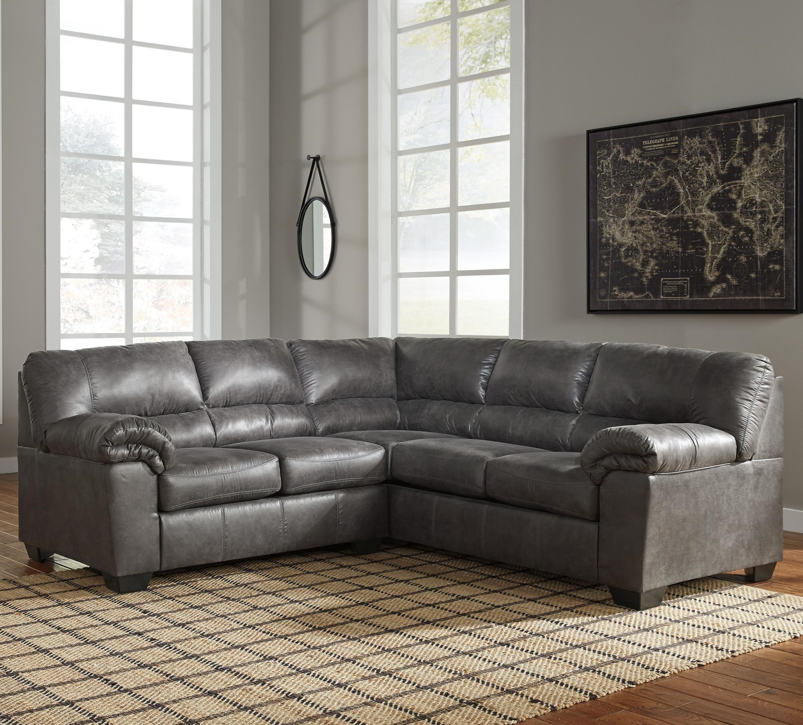 StyleLine Bladen 2 Piece Faux Leather Sectional