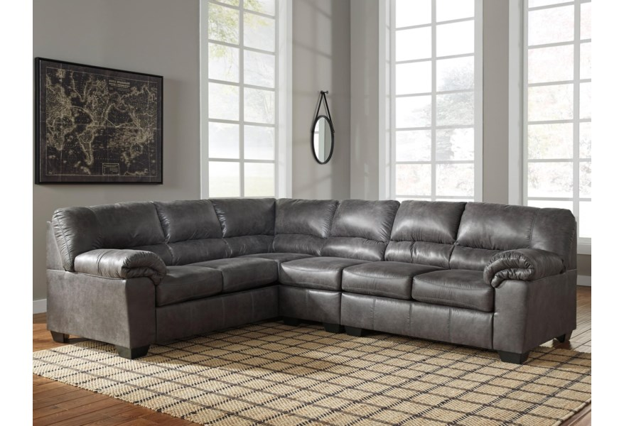 Bladen 3-Piece Faux Leather Sectional by Signature Design by Ashley at  Coconis Furniture & Mattress 1st