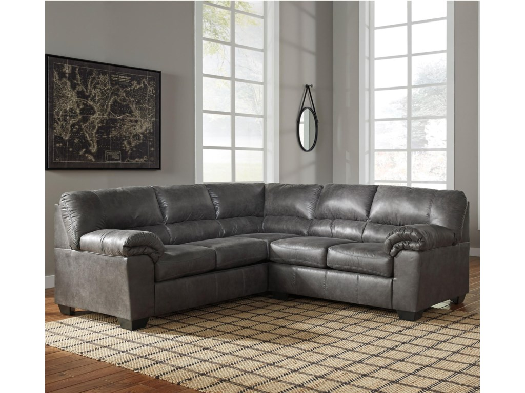 Signature Design By Ashley Bladen Two Piece Faux Leather Sectional