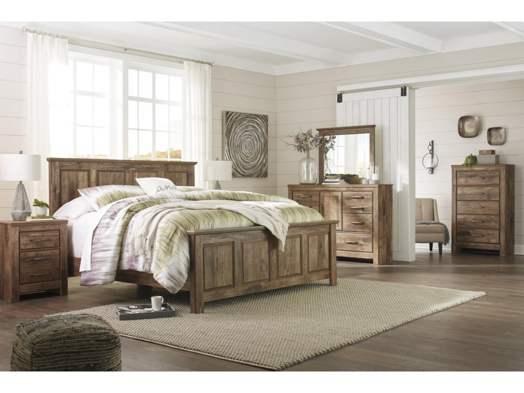 Signature Design by Ashley BlanevilleQueen Panel Bed Package
