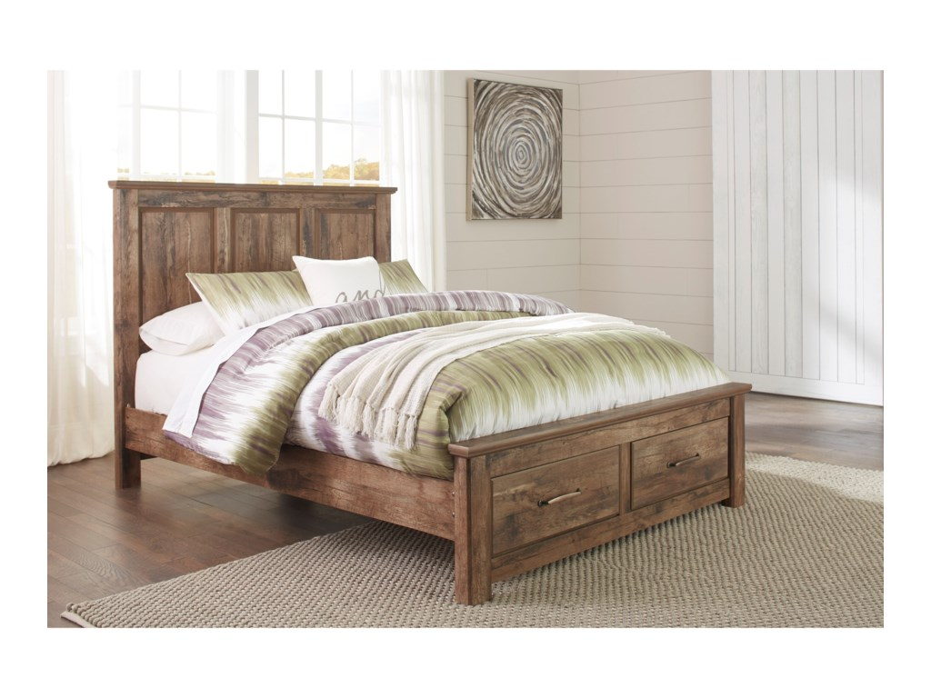 Signature Design by Ashley BlanevilleQueen Panel Storage Bed