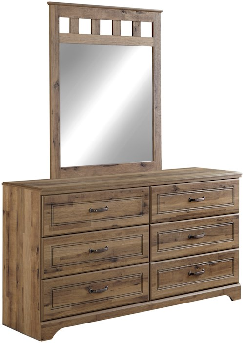 Signature Design by Ashley Brobern Rustic Style Dresser & Bedroom Mirror