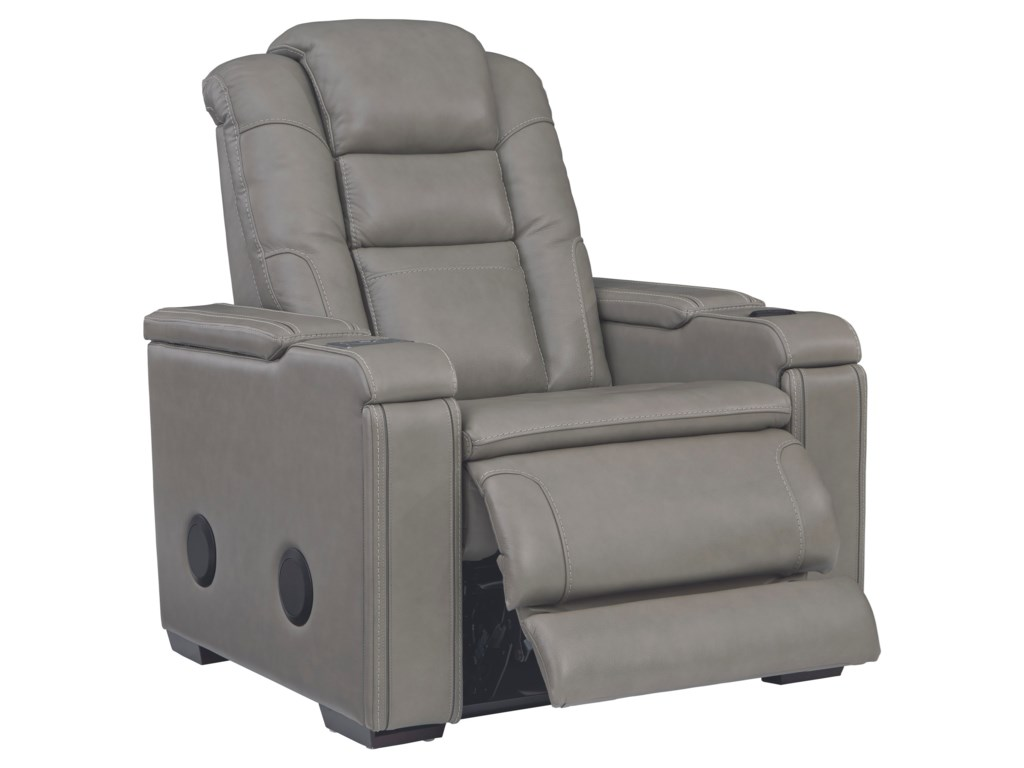 Signature Design by Ashley BoernaPower Recliner with Adjustable Headrest