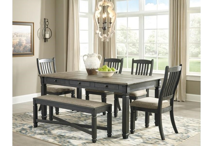 Ashley Bolanburg Dining Set Includes Table And 4 Chairs Bench Sold Separately Morris Home Dining 5 Piece Sets