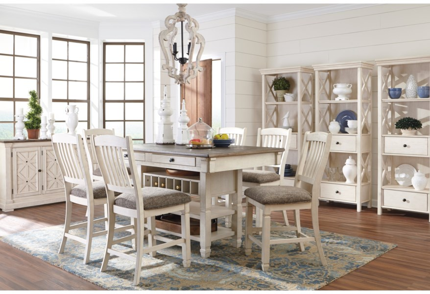 Bolanburg Formal Dining Room Group by Ashley Signature Design at Dunk &  Bright Furniture