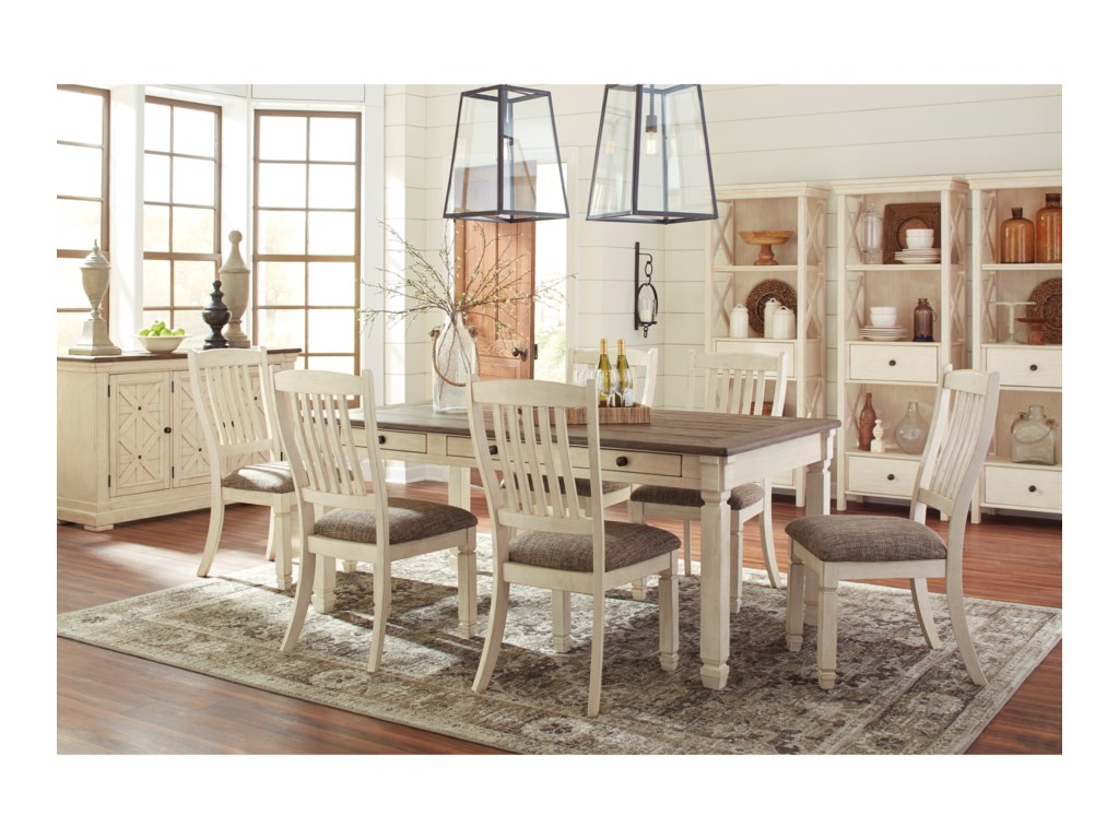 Signature Design By Ashley Bolanburg Formal Dining Room Group Household Furniture Groups