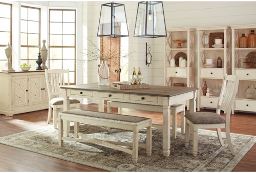 Signature Design by Ashley Bolanburg Casual Dining Room Group ...