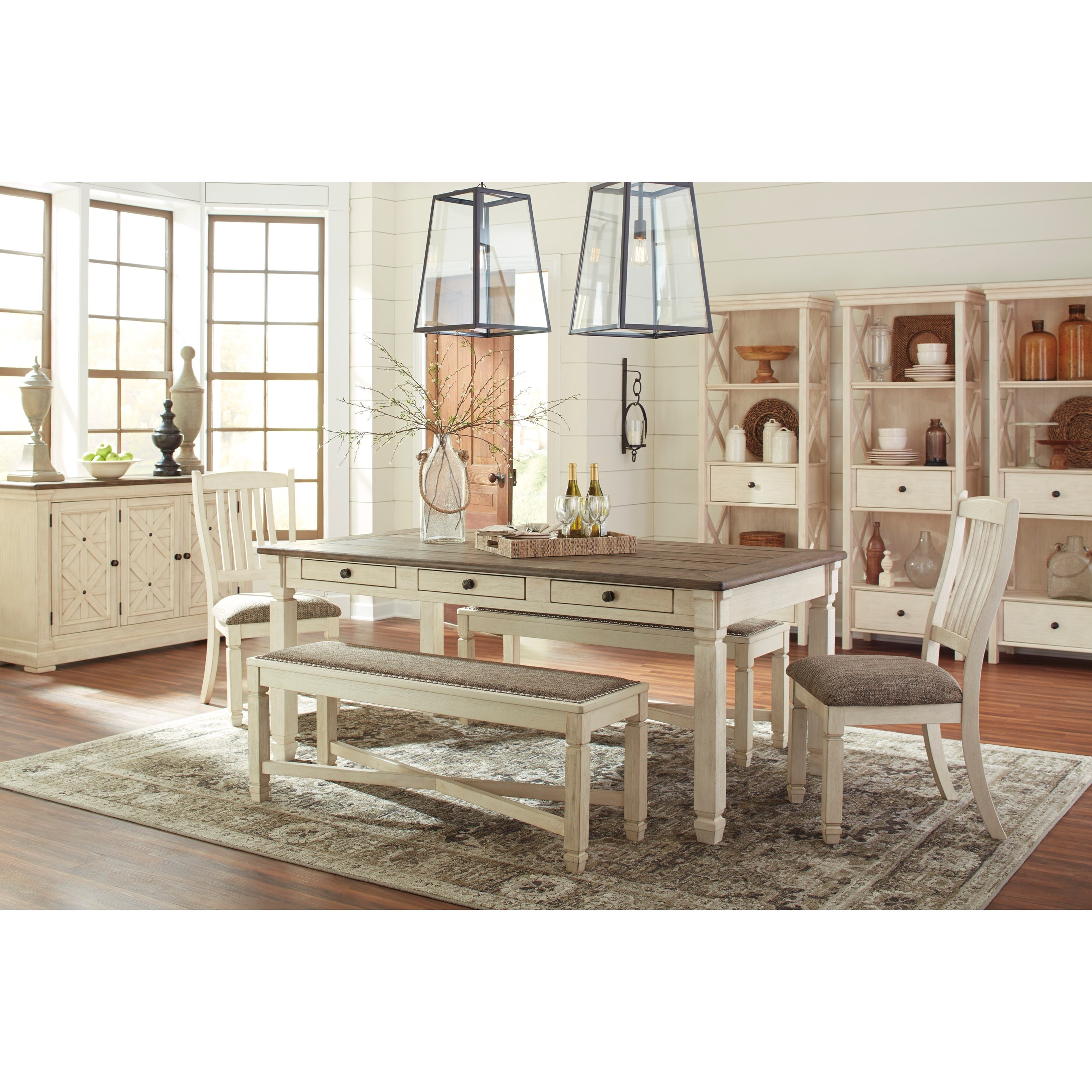Signature Design By Ashley Bolanburg Casual Dining Room Group