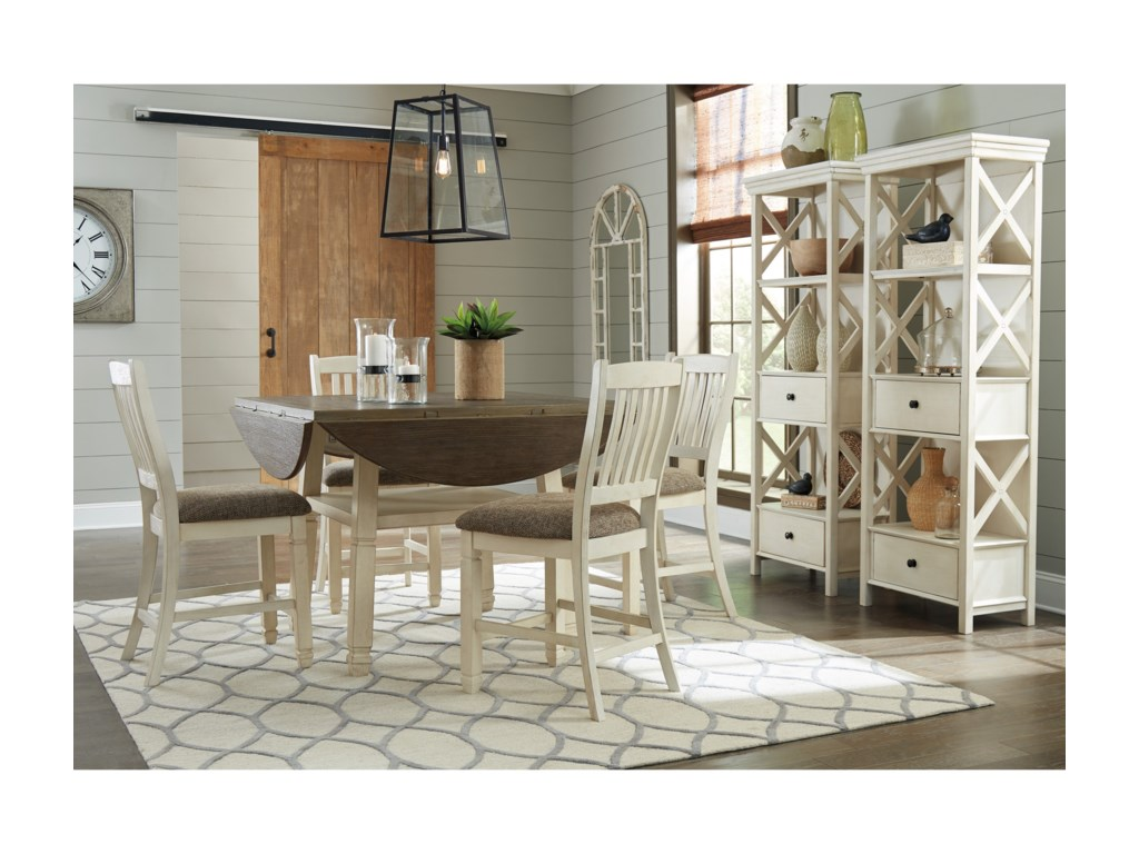 21ac6b1fd0807 Ashley Signature Design Bolanburg Casual Dining Room Group