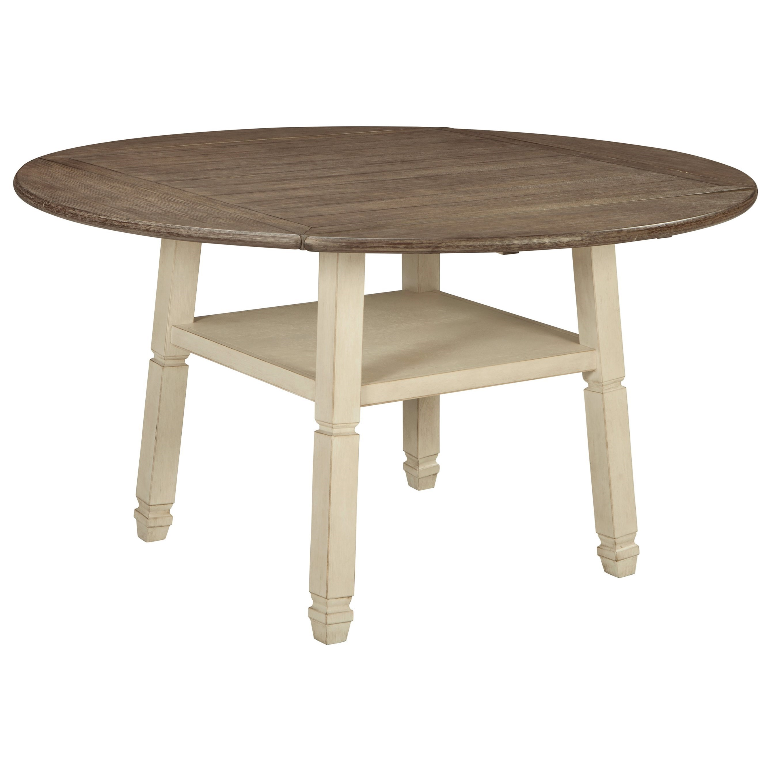Signature Design By Ashley BolanburgRound Drop Leaf Counter Table ...